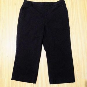 Ralph Lauren Lauren Black Stretch Wool Pants sz12